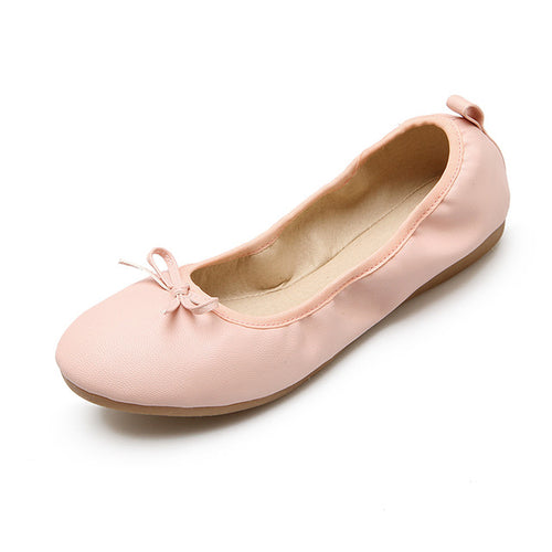 Karen Womens Classic Ballet Flat Slippers in 4 pastel colours