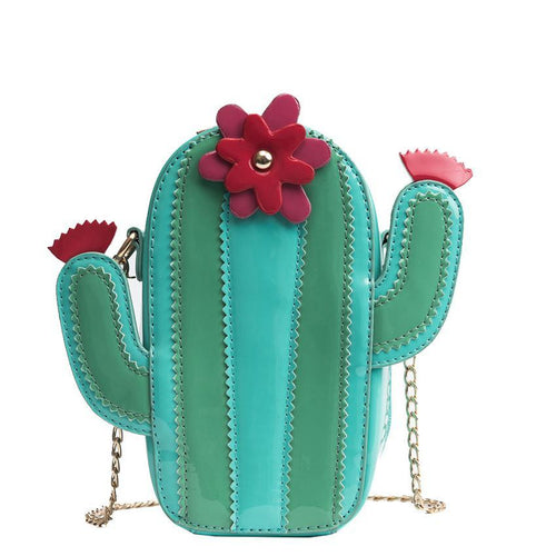 Prickly Pear Cute Cactus Shaped Crossbody Purse