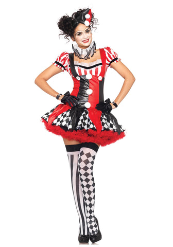 Take a Bow Harlequin Circus Clown Costume
