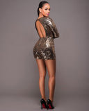 Flashy Ways Sequin Romper
