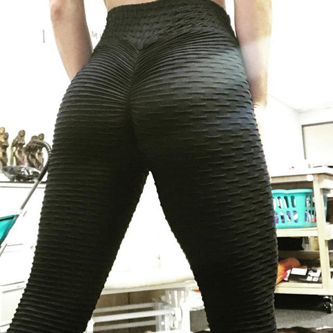 High Waisted Textured Leggings
