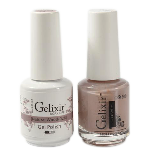 Gelixir Nail Lacquer And Gel Polish, 026, Natural Wood, 0.5oz