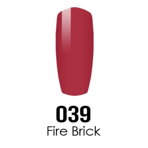 DC Nail Lacquer And Gel Polish (New DND), DC039, Fire Brick, 0 6oz