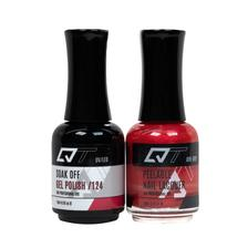QT Gel Polish + Nail Lacquer, 124, 0.5oz