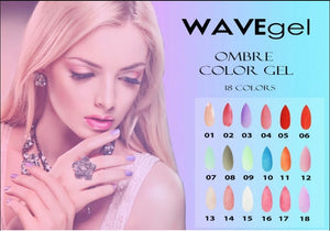 Wave Gel Ombre Gel Polish, 0.5oz, Full line of 18 colors (From 01 to 18)