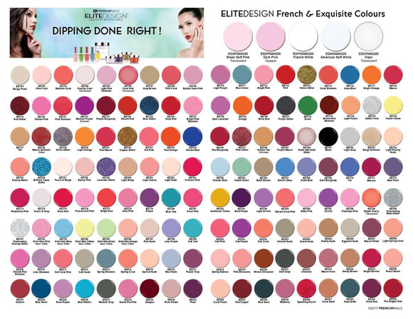 PremiumNails Elite Design Dipping Powder Full Line, 200 Colors