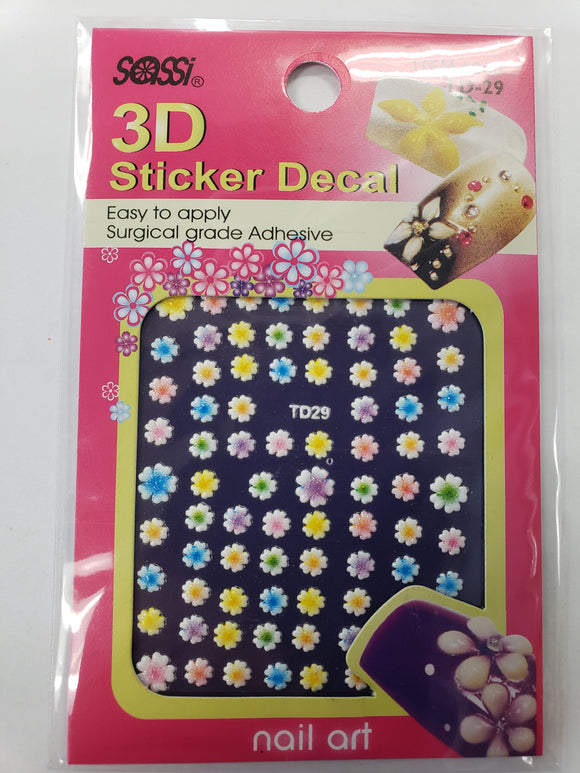 SASSI 3D Sticker Decal Flower Nail Art TD-29