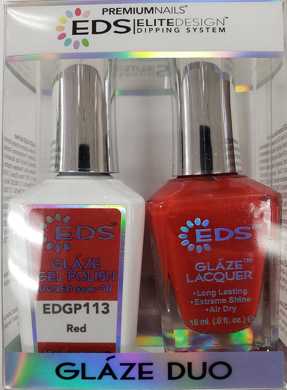 PREMIUMNAILS EDS Glaze Duo (Gel + Lacquer) | EDGP 113 Red