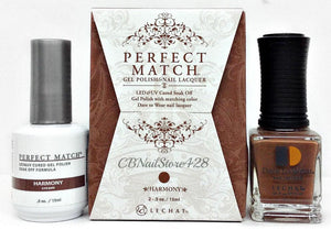 LeChat Perfect Match Nail Lacquer And Gel Polish, PMS206, Modern Muse Collection, Harmony, 0.5oz