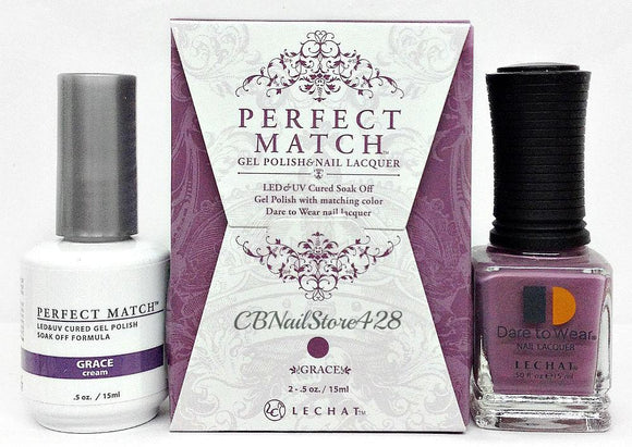 LeChat Perfect Match Nail Lacquer And Gel Polish, PMS208, Modern Muse Collection, Grace, 0.5oz