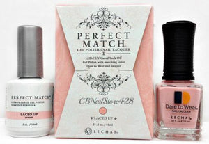 LeChat Perfect Match Nail Lacquer And Gel Polish, PMS212, Exposed Collection, Laced Up, 0.5oz