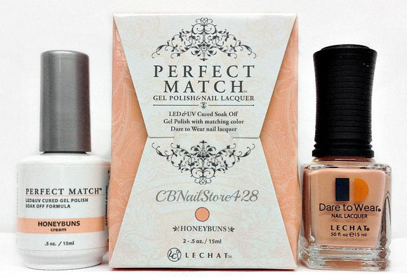 LeChat Perfect Match Nail Lacquer And Gel Polish, PMS215, Exposed Collection, Honeybuns, 0.5oz