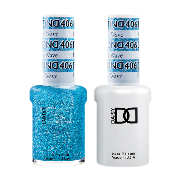 DND Nail Lacquer And Gel Polish, 406, Frozen Wave, 0.5oz