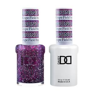 DND Nail Lacquer And Gel Polish, 409, Grape Field Star, 0.5oz