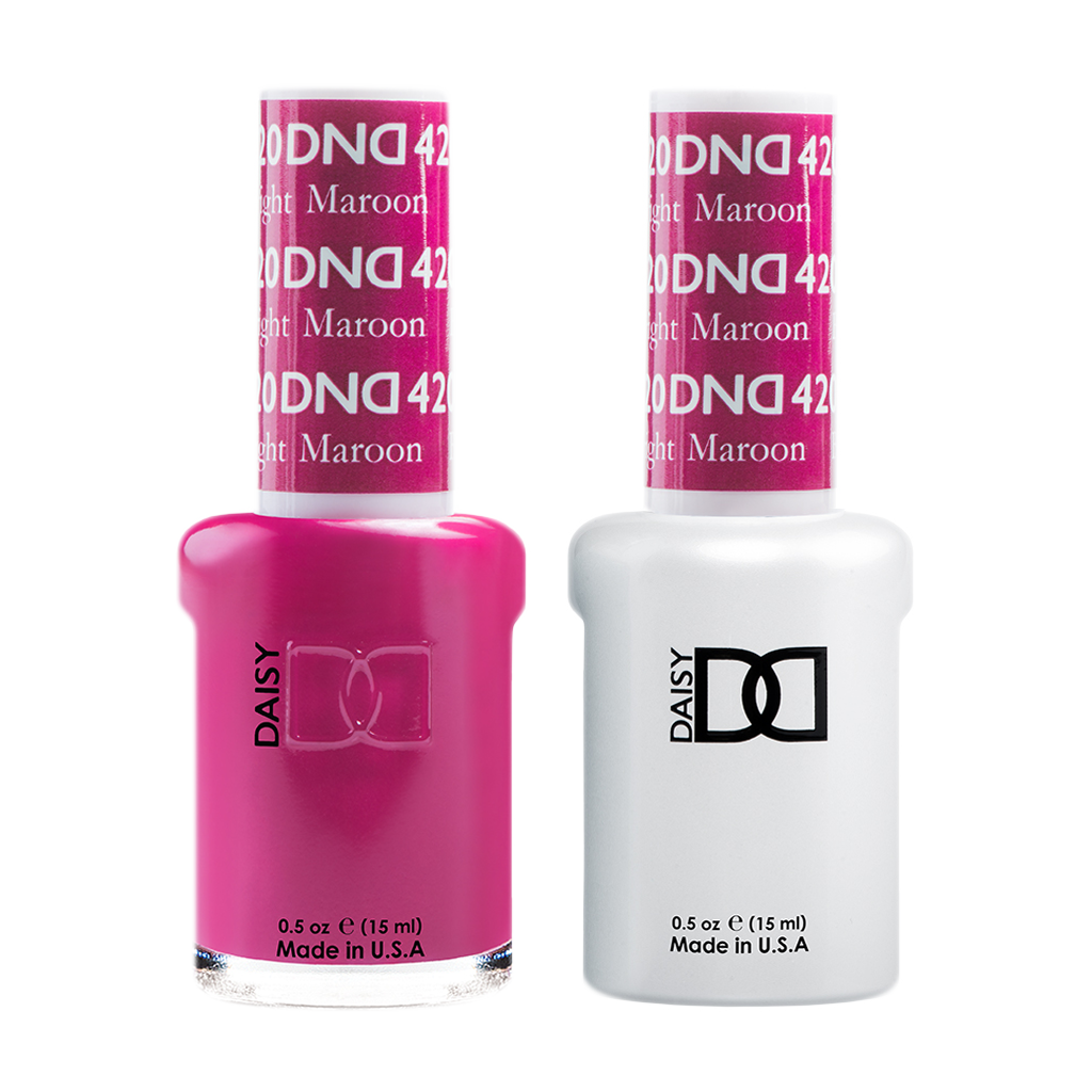 DND Nail Lacquer And Gel Polish, 420, Bright Maroon, 0.5oz