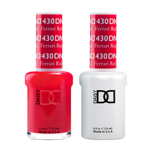 DND Nail Lacquer And Gel Polish, 430, Ferrari Red, 0.5oz