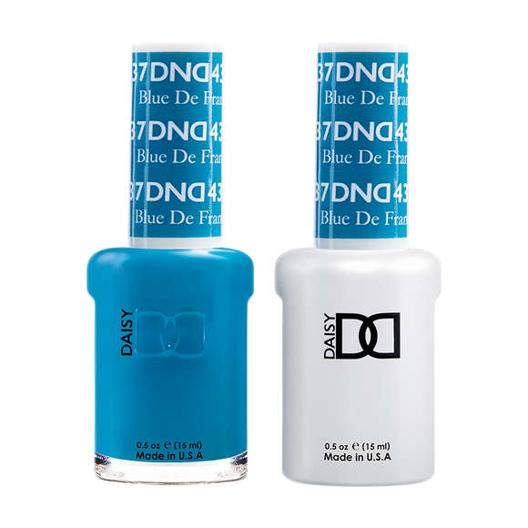 DND Nail Lacquer And Gel Polish, 437, Blue De France, 0.5oz