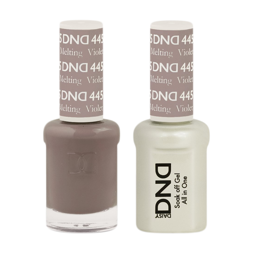 DND Nail Lacquer And Gel Polish, 445, Melting Violet, 0.5oz