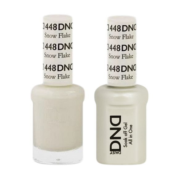 DND Nail Lacquer And Gel Polish, 448, Snow Flake, 0.5oz