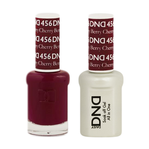 DND Nail Lacquer And Gel Polish, 456, Cherry Berry, 0.5oz