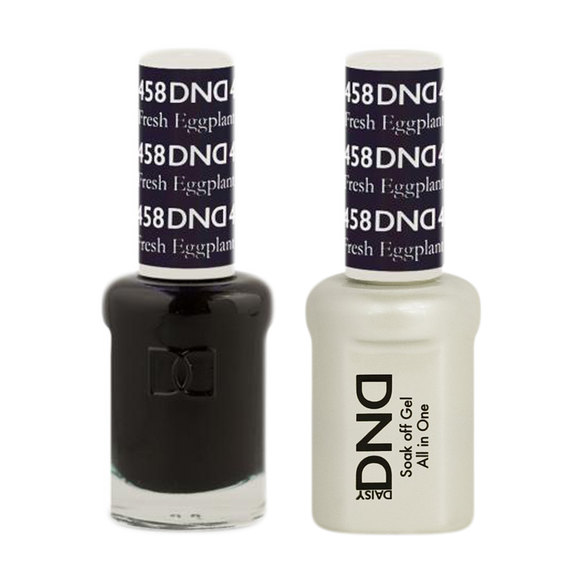 DND Nail Lacquer And Gel Polish, 458, Fresh Eggplant, 0.5oz