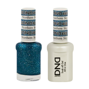 DND Nail Lacquer And Gel Polish, 468, Northern Sky, 0.5oz