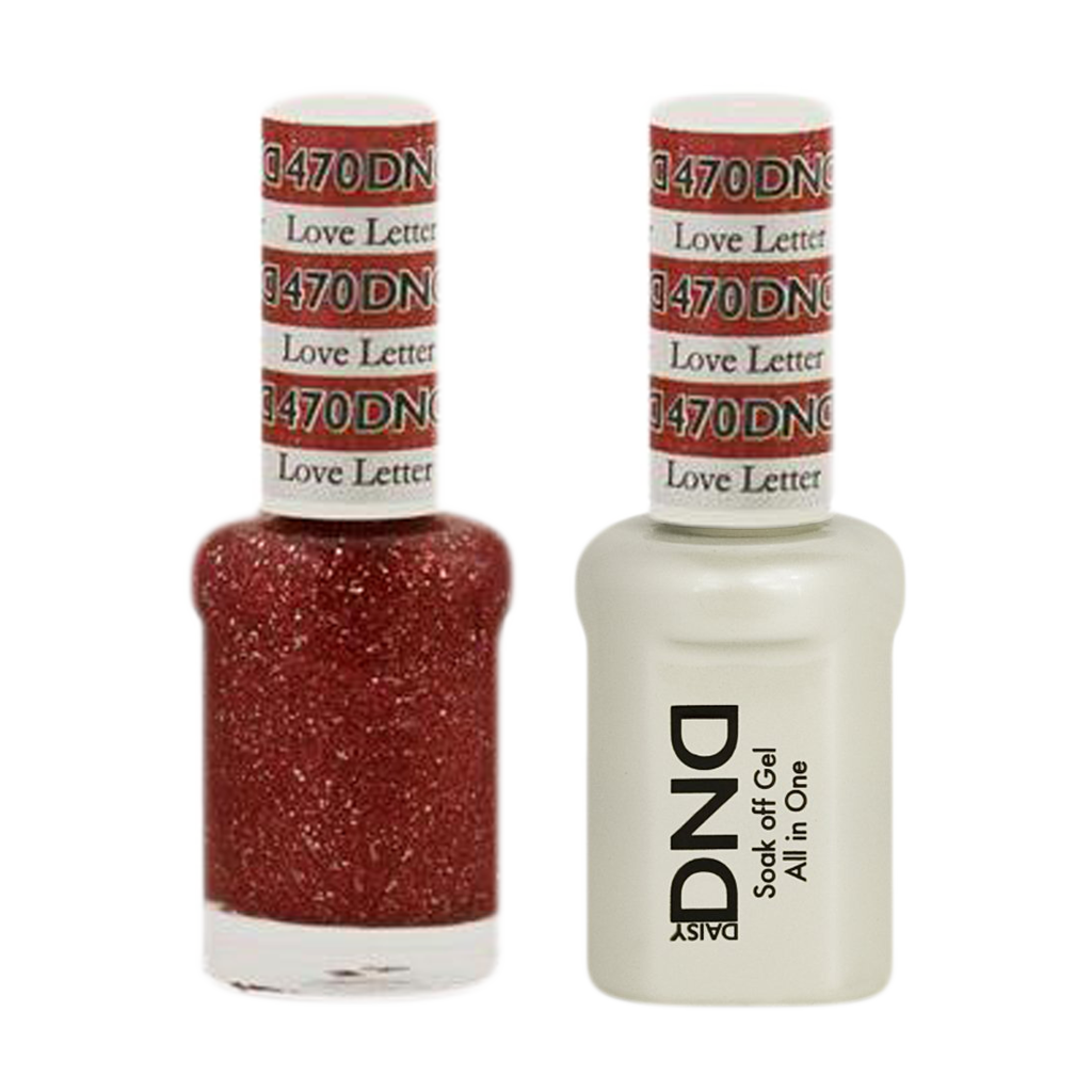 DND Nail Lacquer And Gel Polish, 470, Love Letter, 0.5oz