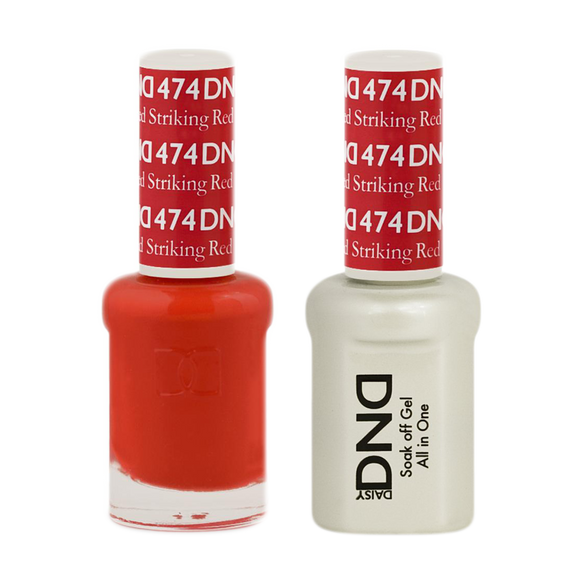 DND Nail Lacquer And Gel Polish, 474, Striking Red, 0.5oz
