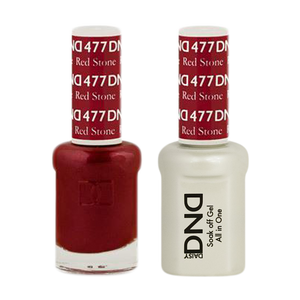 DND Nail Lacquer And Gel Polish, 477, Red Stone, 0.5oz