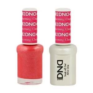 DND Nail Lacquer And Gel Polish, 482, Charming Cherry, 0.5oz
