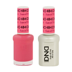 DND Nail Lacquer And Gel Polish, 484, Sun Of Pink, 0.5oz