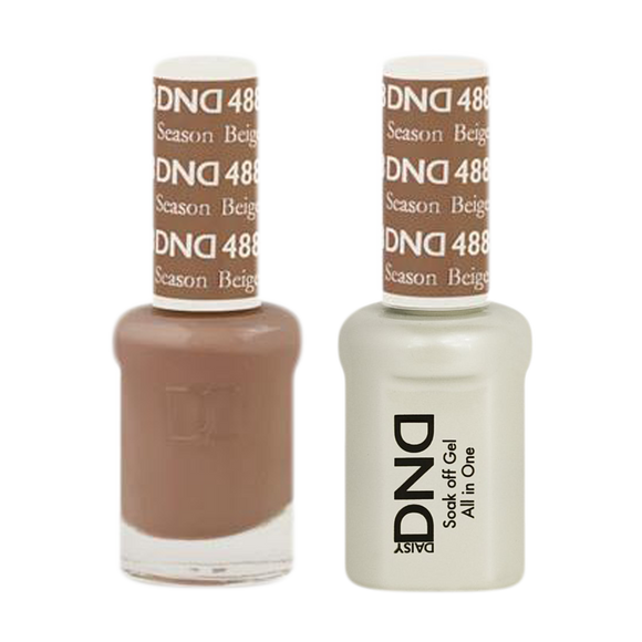 DND Nail Lacquer And Gel Polish, 488, Season Beige, 0.5oz