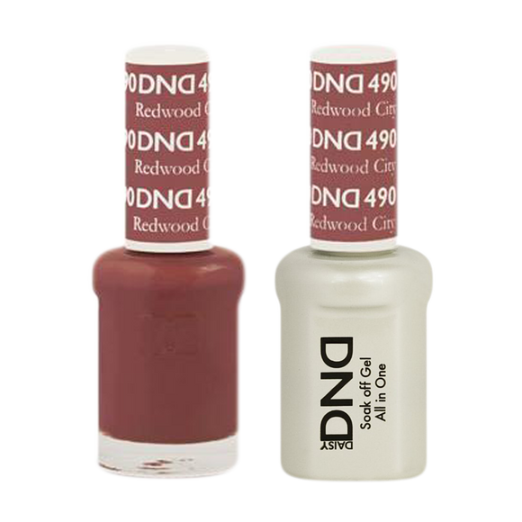 DND Nail Lacquer And Gel Polish, 490, Redwood City, 0.5oz