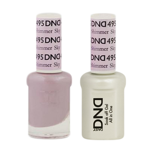 DND Nail Lacquer And Gel Polish, 495, Shimmer Sky, 0.5oz
