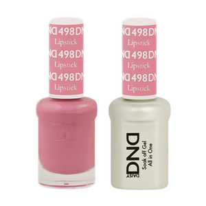 DND Nail Lacquer And Gel Polish, 498, Lipstick, 0.5oz