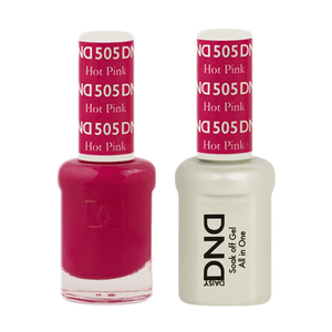 DND Nail Lacquer And Gel Polish, 505, Hot Pink, 0.5oz