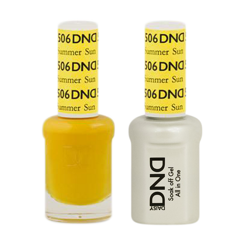 DND Nail Lacquer And Gel Polish, 506, Summer Sun, 0.5oz