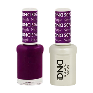 DND Nail Lacquer And Gel Polish, 507, Neon Purple, 0.5oz