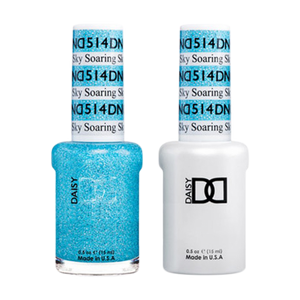 DND Nail Lacquer And Gel Polish, 514, Soaring Sky, 0.5oz