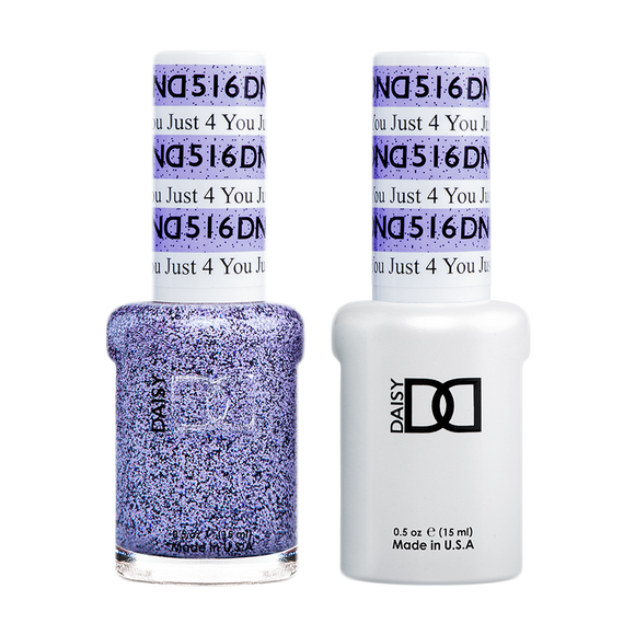DND Nail Lacquer And Gel Polish, 516, Just For You, 0.5oz