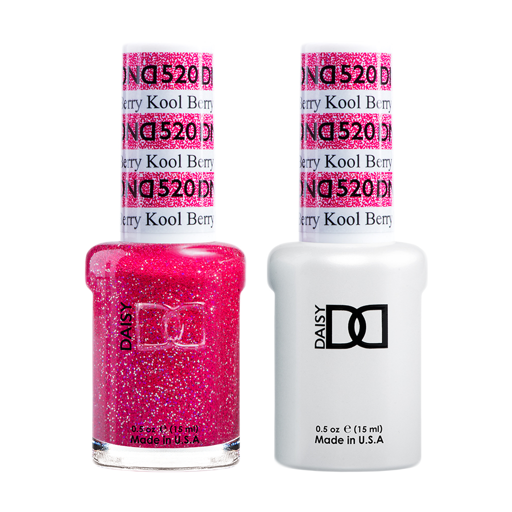 DND Nail Lacquer And Gel Polish, 520, Kool Berry, 0.5oz