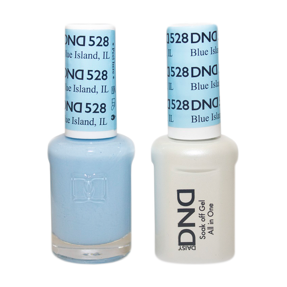 DND Nail Lacquer And Gel Polish, 528, Blue ISland IL, 0.5oz