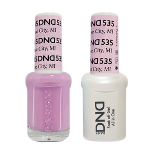 DND Nail Lacquer And Gel Polish, 535, Rose City MI, 0.5oz