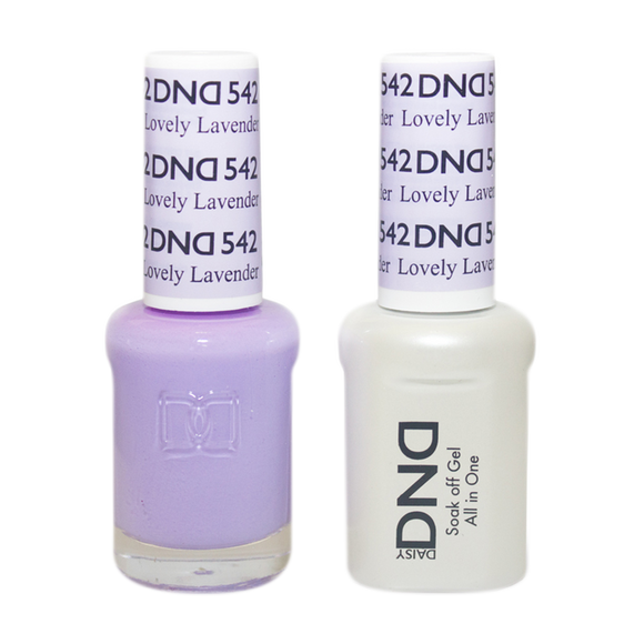 DND Nail Lacquer And Gel Polish, 542, Lovely Lavender, 0.5oz