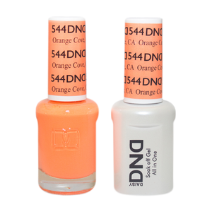 DND Nail Lacquer And Gel Polish, 544, Orange Cove, 0.5oz