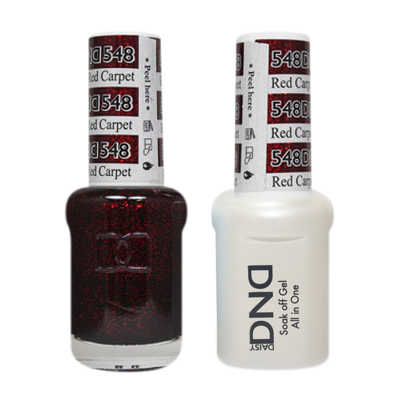 DND Nail Lacquer And Gel Polish, 548, Red Carpe, 0.5oz