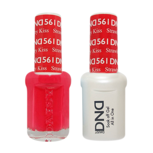 DND Nail Lacquer And Gel Polish, 561, Strawberry Kiss, 0.5oz