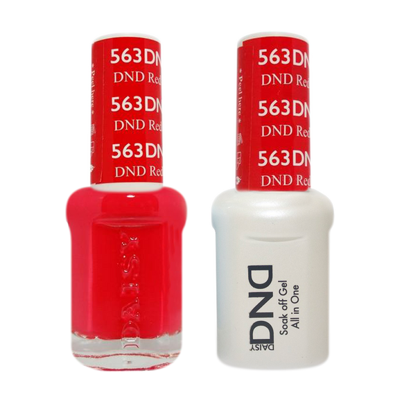 DND Nail Lacquer And Gel Polish, 563, Red, 0.5oz