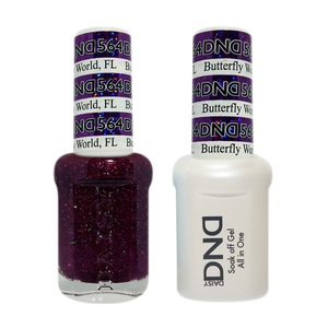 DND Nail Lacquer And Gel Polish, 564, Butterfly World FL, 0.5oz