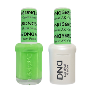 DND Nail Lacquer And Gel Polish, 568, Green Forest AK, 0.5oz